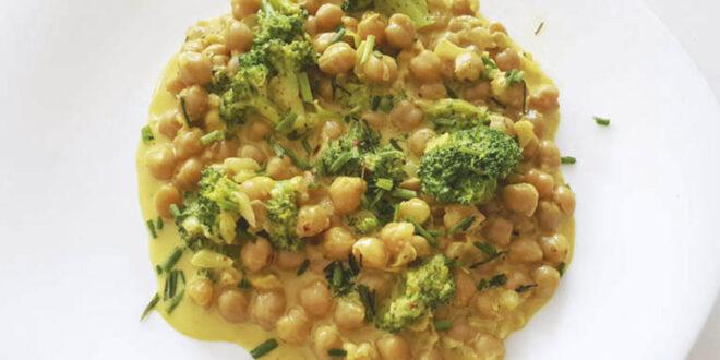 garbanzos con salsa de curry
